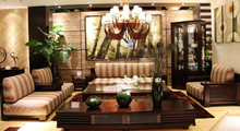 Luxury Home Furniture Living Room Solid Wood Sofa
