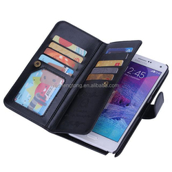 High quality wallet phone case universal smart phone wallet style leather case phone case wallet for samsung galaxy note 4