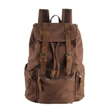 2015 Teenage School Bag Canvas Strong Laptop Backpack