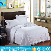snow white hot sale 5 star hotel modern style 100% cotton stain bali bedding