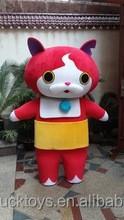 Japanese adult red cat mascot costume Lovely bobcat cartoon costume