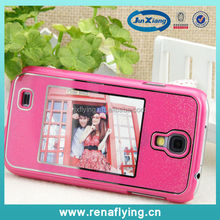 Fashion faceplate phone case with photo frame for Samsung S4