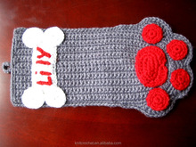 Crochet Dog Paw Stocking, Hot Sale Cute 100% Hand Crocheted Christmas Stocking, Hand Crochet Innovation Factory