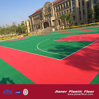 outdoor basketball court flooring interlocking tiles
