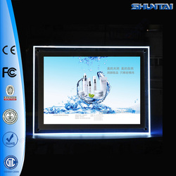 Wall-mounted frameless crystal led lighted photo frame A4