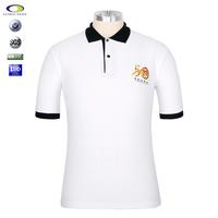 Cotton&spandex White men printing polo collar tshirt for promotion