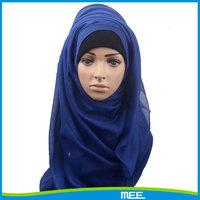 2015 Fashional plain muslim woman arab hijab scarf