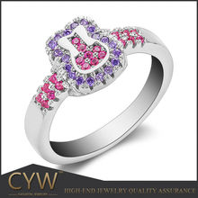 CYW hot fashion sterling silver lady rings,what is 925 sterling silver jewelry ring maker