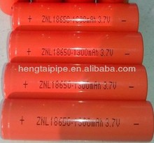 18650 lithium battery 3.7V from 1000mah to 1500mah