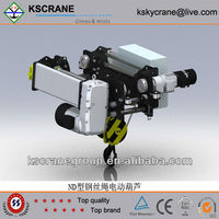 1 ton top quality ND Model steel wire rope electric hoist