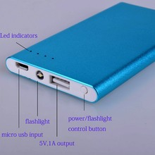 Factory price super thin portable mobile power bank 4000mAh for iPhone, Samsung, iPad