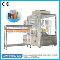 Cheap juice drink spout pouch bag filling sealing packing machine