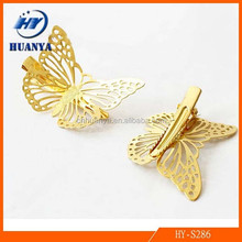 French Barrette Hair Clips Wholesale Metal butterfly hairpin for Women