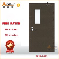 fire rated 1 hour steel fireproof metal fire rated glass door for hotel emergency