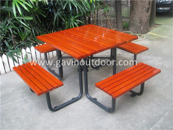 Iso Certified Rust Proof Park Square Antique Picnic Tables Bench - Square metal picnic table