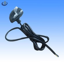 VDE standard 3 prong BS male end AC power cord and plug