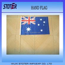 Australian Hand Flag with Plastic Pole