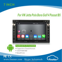 Quad Core 7inch Android 4.4.4 HD Car DVD player for VW Jetta Polo Bora Golf 4 Passat B5 with GPS Navigation BT Wifi 3G