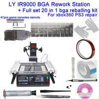 Lead free infrared bga rework station LY IR9000 with complete bga accessory solder ball stencil flux paste tweezer