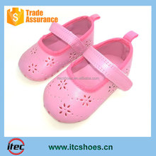 Cute Pink Baby Shoes with Hollow Flower New Design Infant Shoes Perforated Baby Shoes