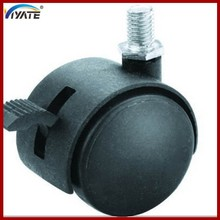 Black plunger plastic plastic bed caster wheels