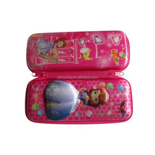 Lovely princess kids school 3D EVA hard pencil pouch/case