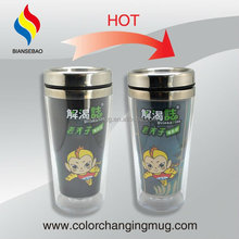 Hot Color Changing Stainless Steel Drinking Glass
