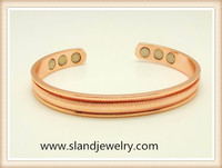 Sland China wholesale jewelry, copper bracelet with 6 magnets help relieve arthritis