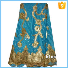 Blue factory directly selling high quality New Design Velvet Lace for dress H15111040