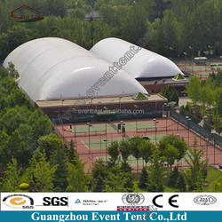 Easy assemble beautiful PVC inflatable cube air tent 6m for sale for leisure square