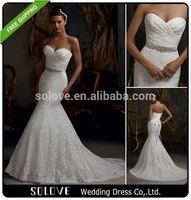 Pleat beaded venice lace wedding dress price