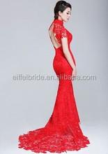 e113 red sex lace wedding dress chinese wedding dress
