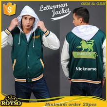 Custom Baseball Mans Wool Knit Varsiity Football Jacket with Syntheitc Leather Sleeve High Quality Letterman Bomber Jackets
