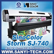 1.8m Large Format Eco Solvent Vinyl Printer Sinocolor SJ740,Dual DX7 Heads,Fast Speed