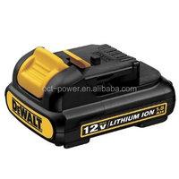 Dewalt 12V 1.5Ah Li-ion battery replacement for dewalt DC907, DE9037, DE9071,DE9072,DE9074,DE9075,DE9501,DW9071
