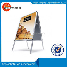 Silver 25mm profile pavement sign 25mm aluminum advertising a board