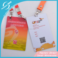 2015 Personality custom plastic business card with punch hole