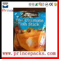 Color printed 60 micron plastic ldpe bag for frozen food packaging