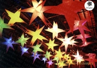 2015 popular 8-pointed inflatable hanging lighting event decoration spikey stars