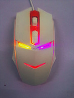 USB chramatic lamp optical gaming mouse ,4 key gaming mouse