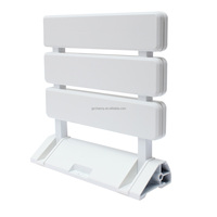 Fashion Popular Details about Wall Mounted Folding Shower Seat by Arian in White Bathroom Mobility Aid NEW