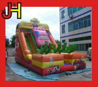 Giant inflatable slide /water slide/cartoon with cute car print for sale