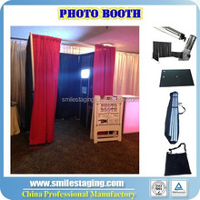 Portable photo booth package pipe and drape wedding backdrop pipe and drape kits for wedding decoration