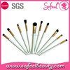 Sofeel 10pcs shiny white top quality eye makeup brushes