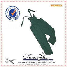 Sunnytex TC fabric copper zipper front soft shell green coveralls