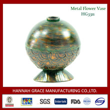 Bronze Color Metal Single Flower Vase, beautiful flower vase