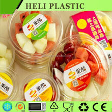 Disposable plastic fresh fruit/vegetable storage holder tray