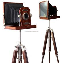 Wooden Handcrafted Vintage camera model home decor