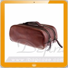 Luxury men leather travel toiletry kit