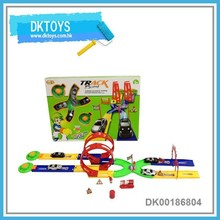 Premium Gift Racing Toy With Track Pop Up Car Launch Car Toy